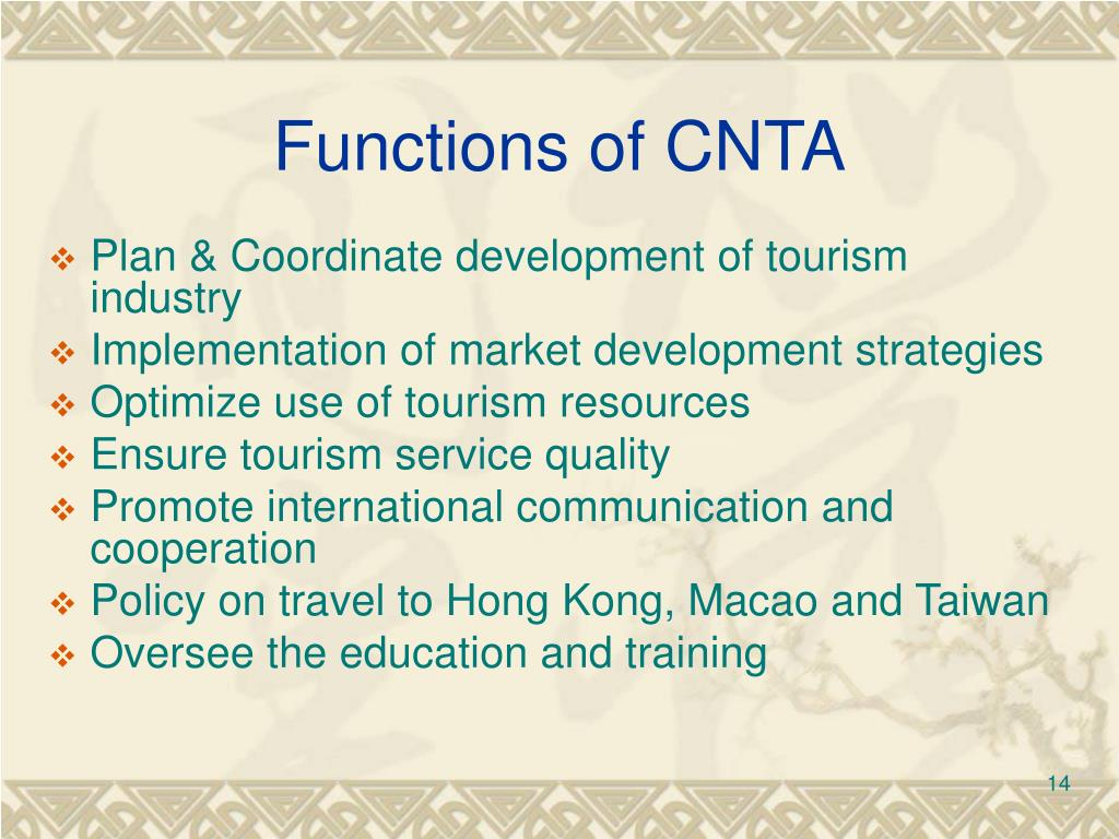Functions of CNTA