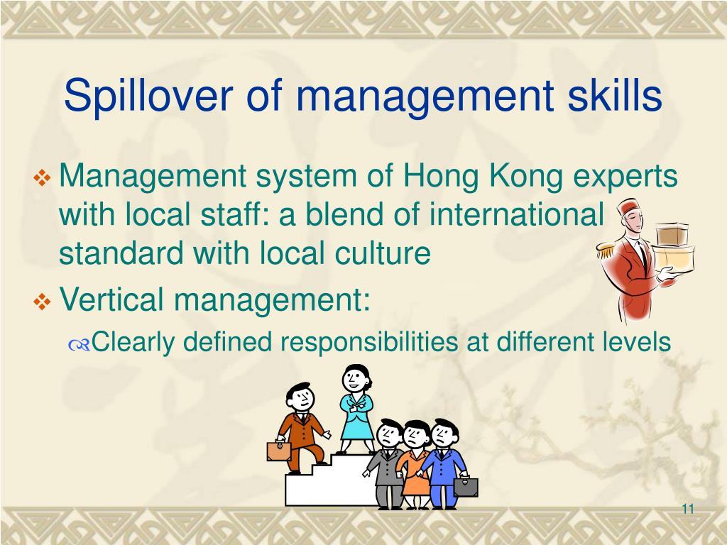 Spillover of management skills
