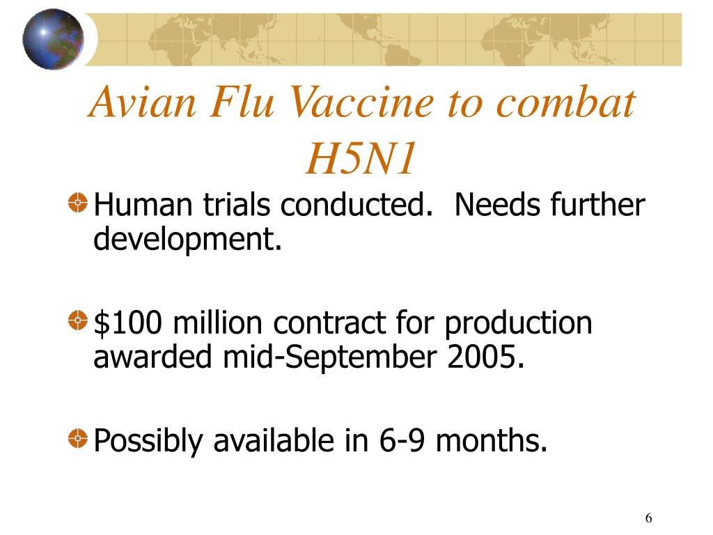 Avian Flu Vaccine to combat H5N1