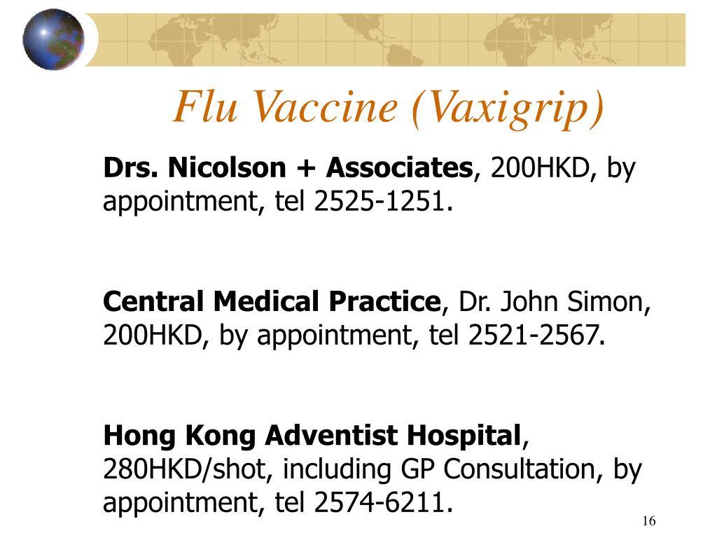 Flu Vaccine (Vaxigrip)