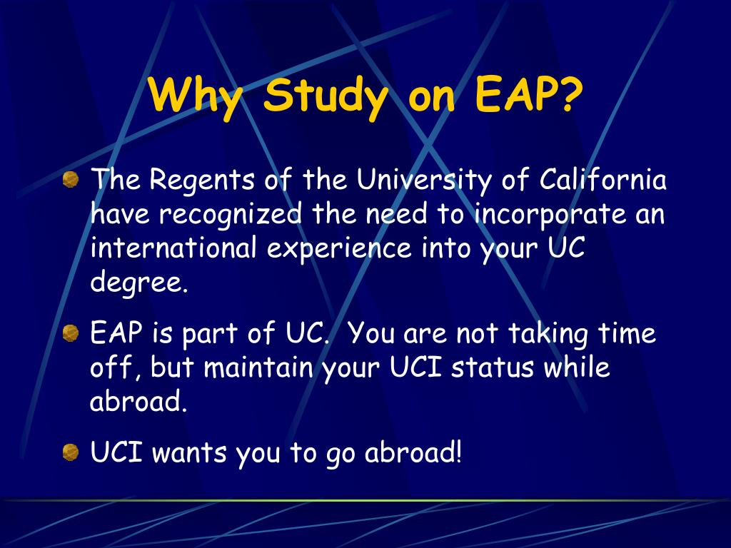 Why Study on EAP?