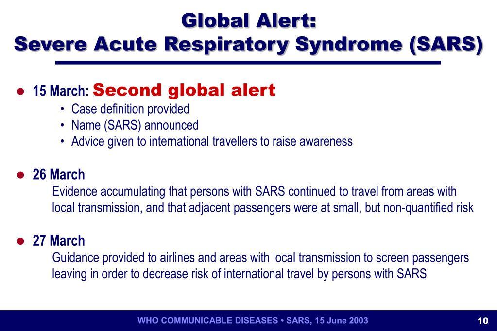Global Alert: