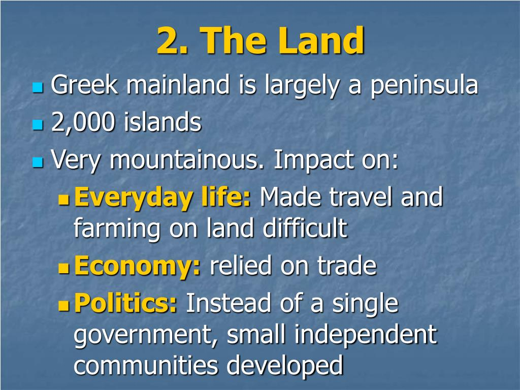2. The Land