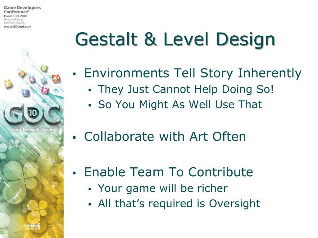Gestalt & Level Design