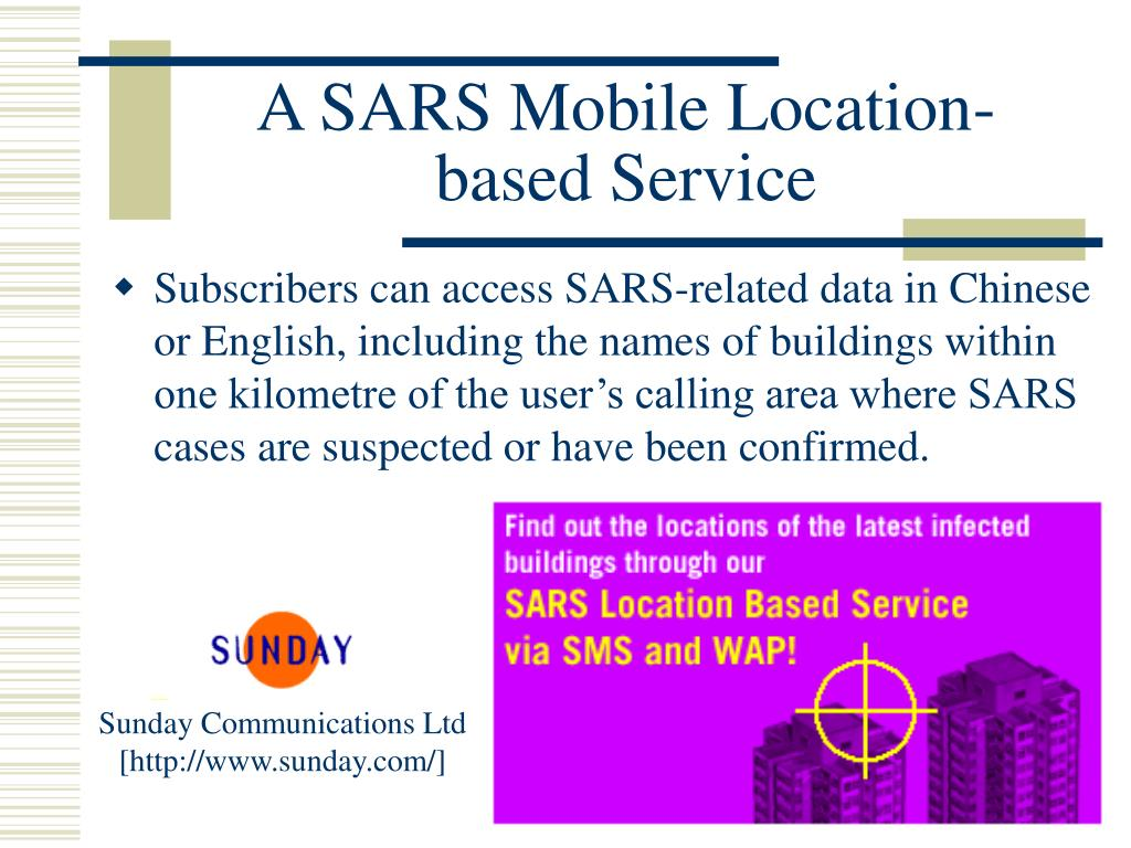 A SARS Mobile Location-based Service