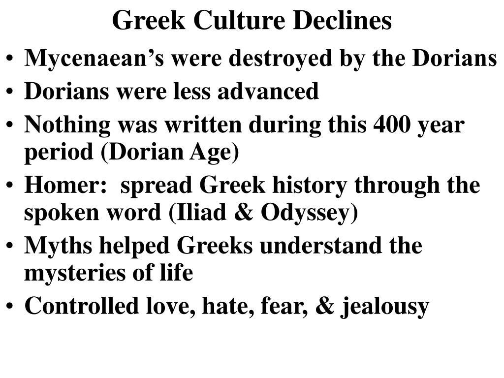 Greek Culture Declines