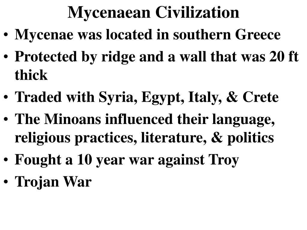 Mycenaean Civilization