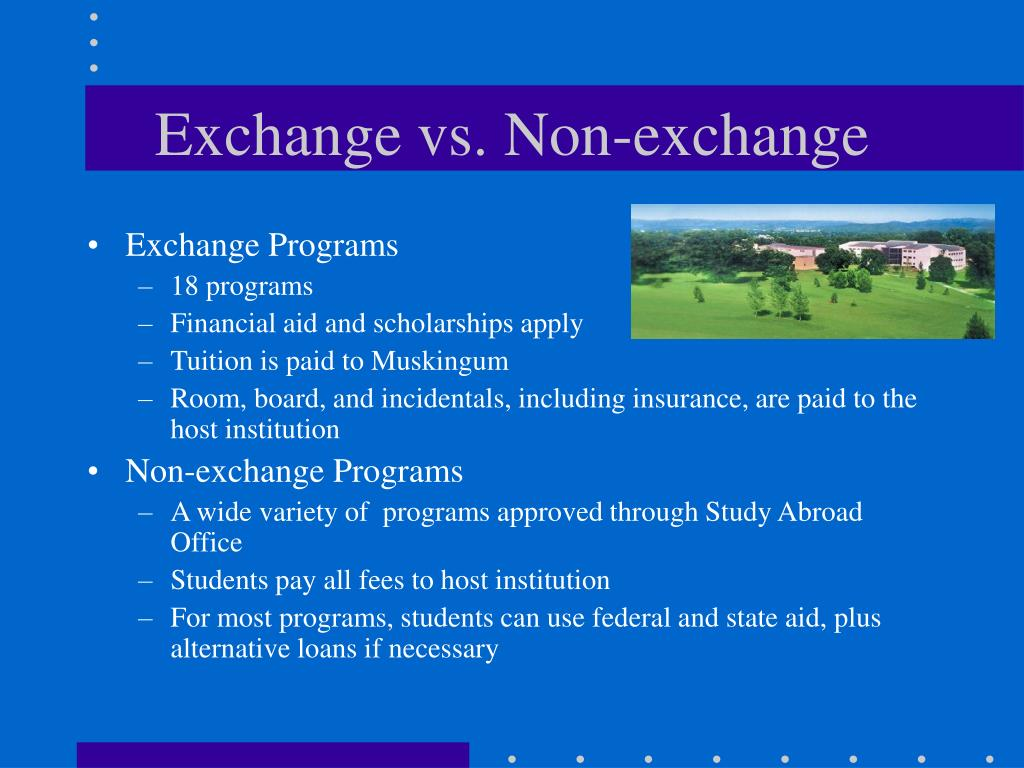 Exchange vs. Non-exchange
