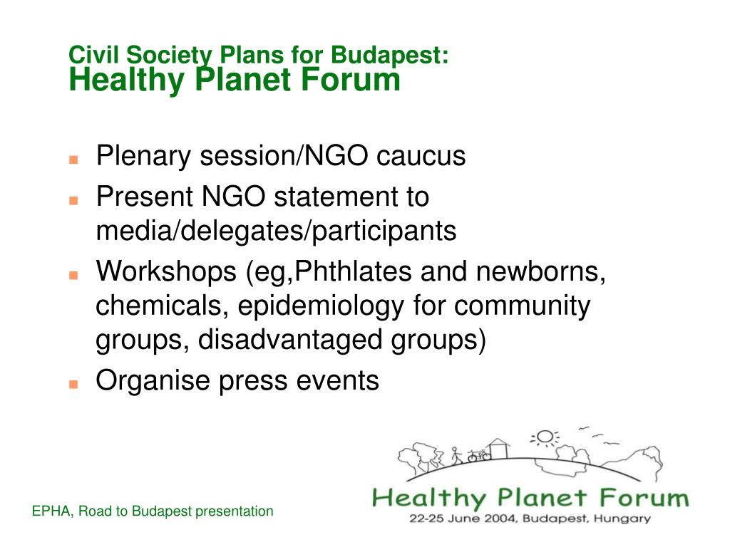 Civil Society Plans for Budapest: