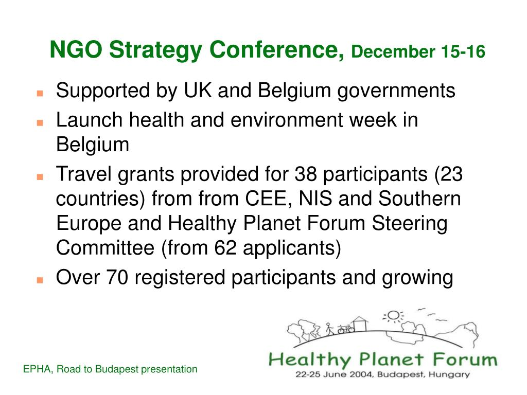 NGO Strategy Conference,