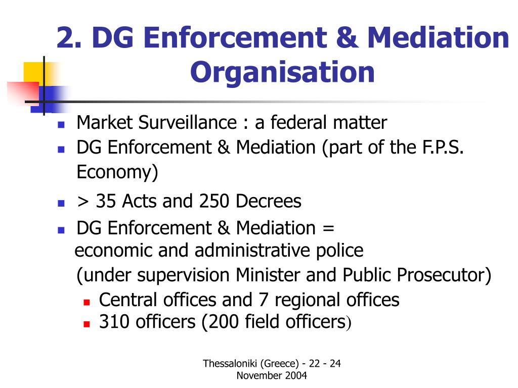 2. DG Enforcement & Mediation