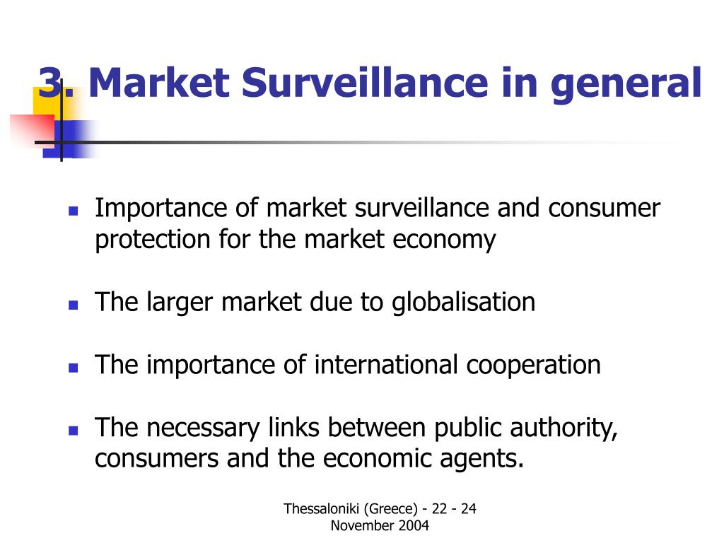 3. Market Surveillance in general