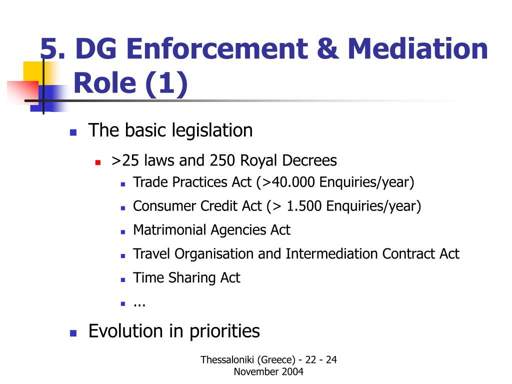 5. DG Enforcement & Mediation