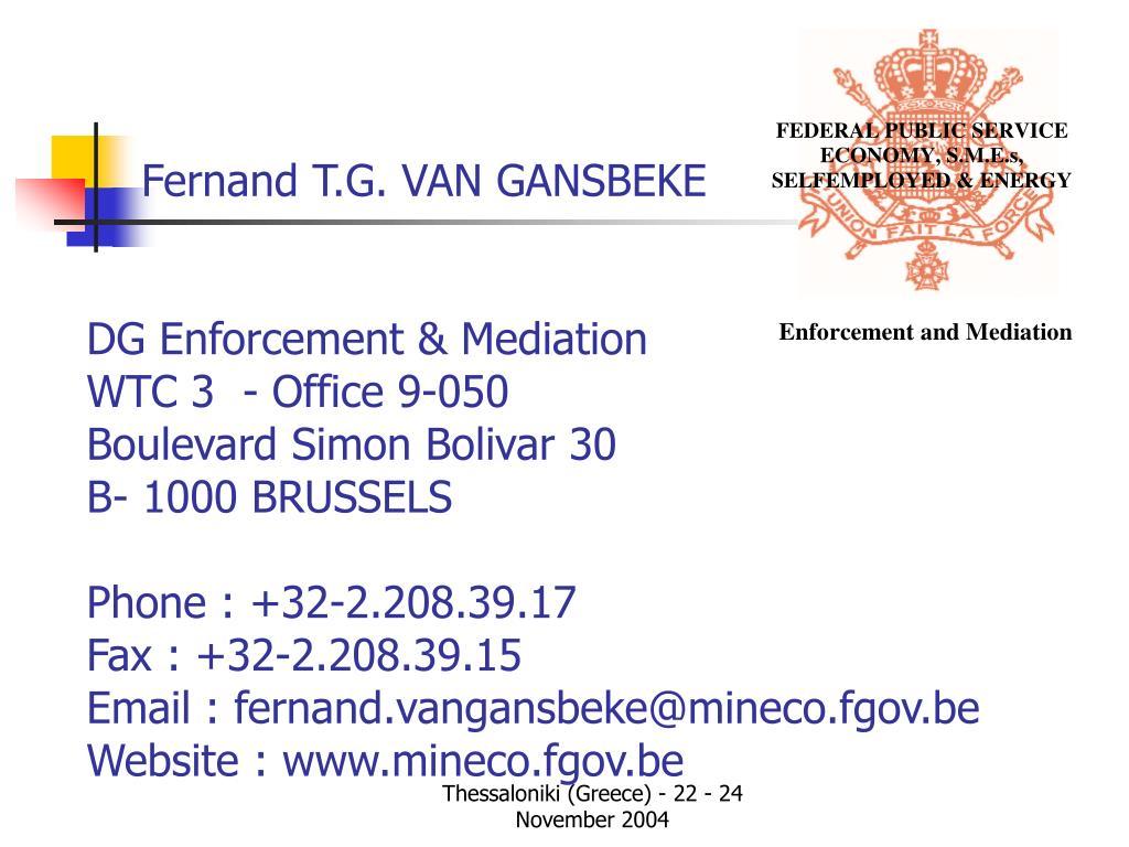 Fernand T.G. VAN GANSBEKE