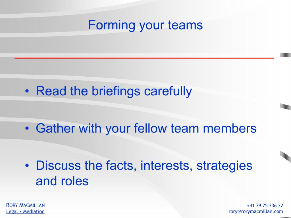 Forming your teams