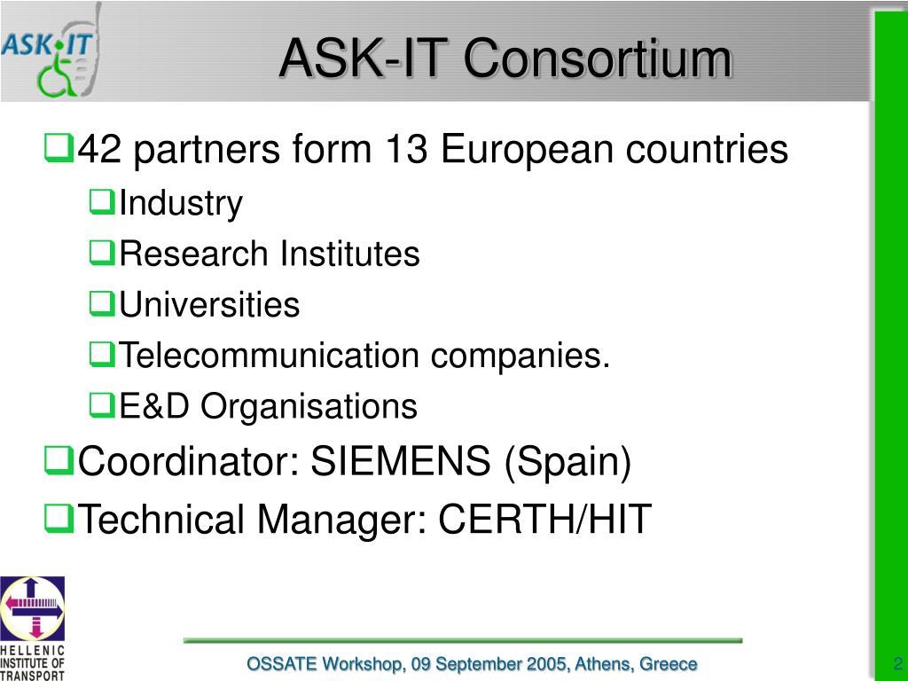 ASK-IT Consortium