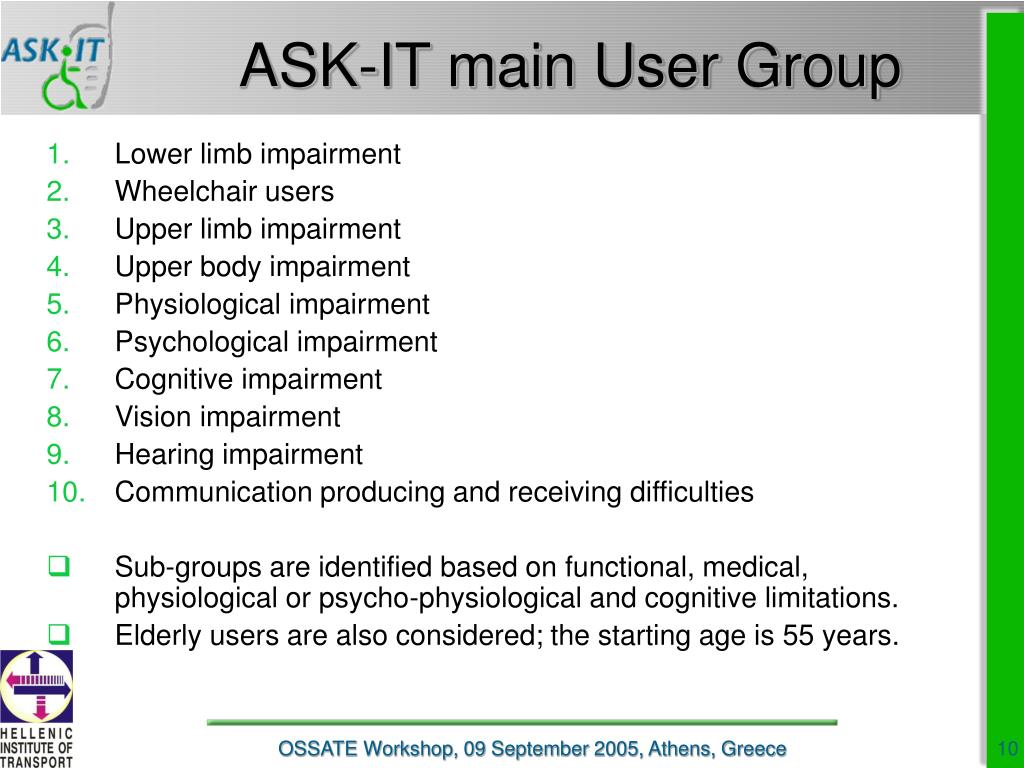 ASK-IT main User Group