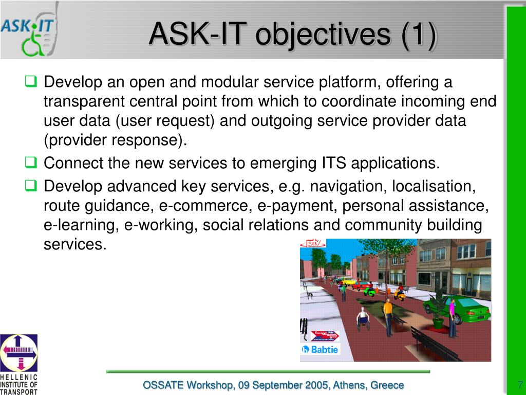 ASK-IT objectives (1)