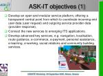 ask it objectives 1