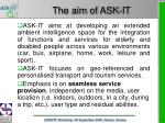 the aim of ask it