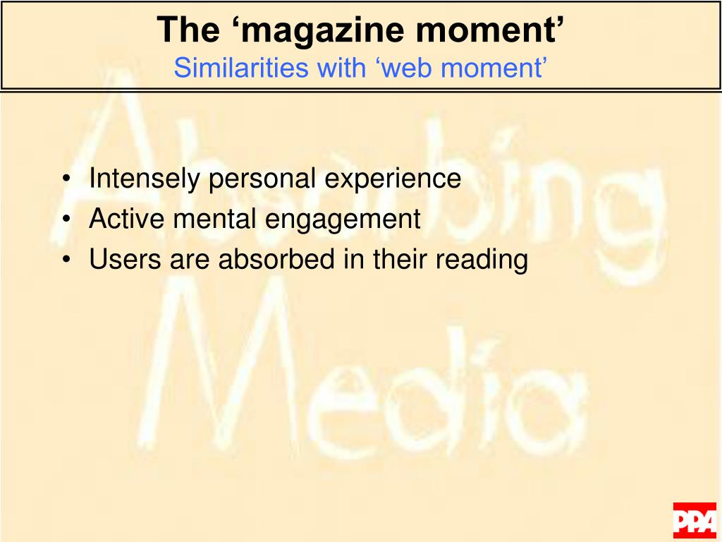 The 'magazine moment'
