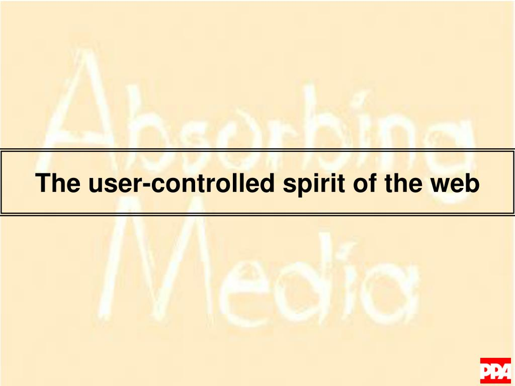 The user-controlled spirit of the web