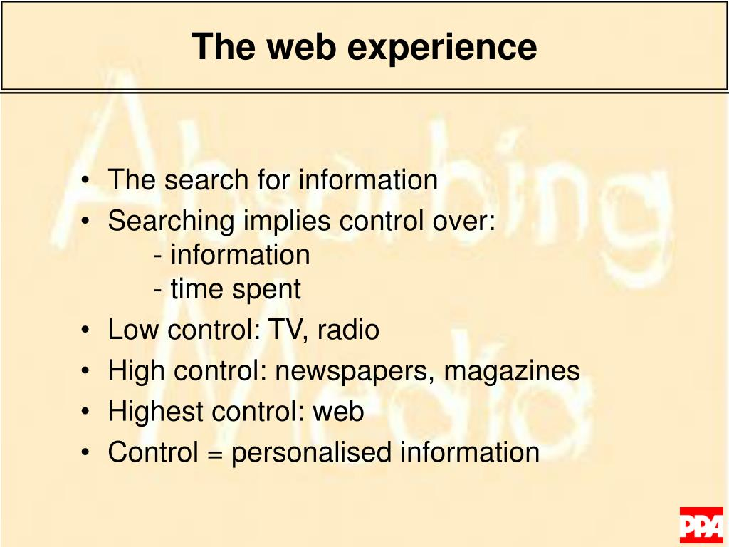 The web experience