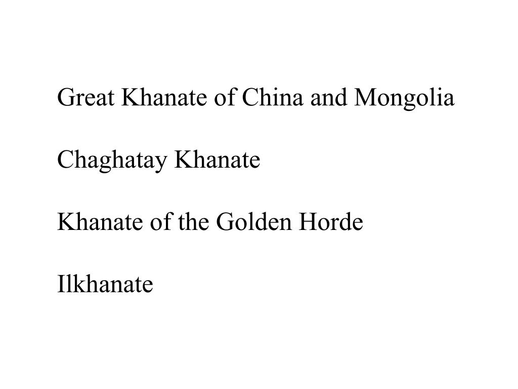 Great Khanate of China and Mongolia