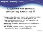 1 survey of how survivors successes adopt use it9