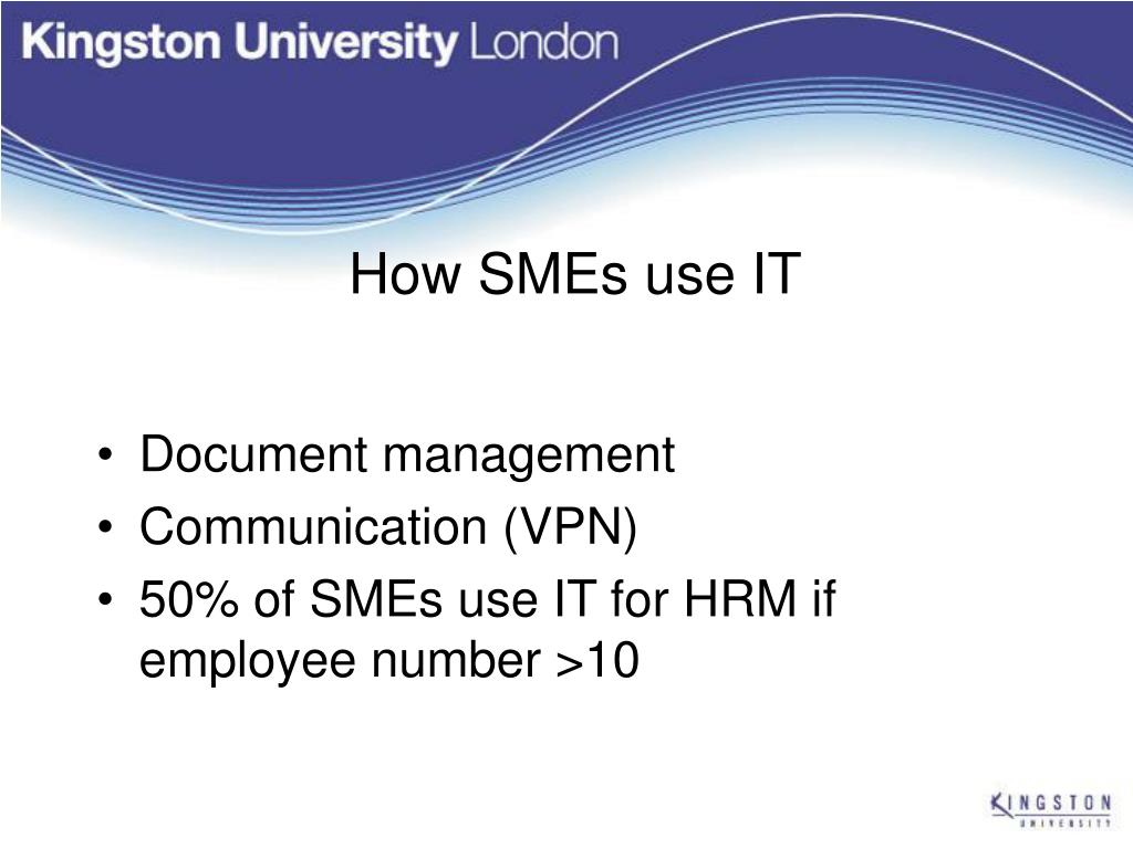 How SMEs use IT