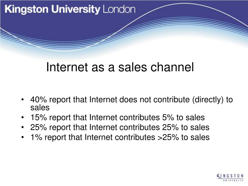 Internet as a sales channel