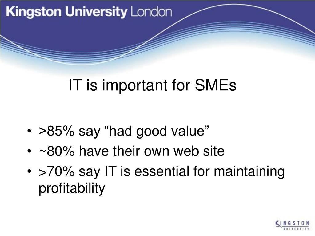IT is important for SMEs
