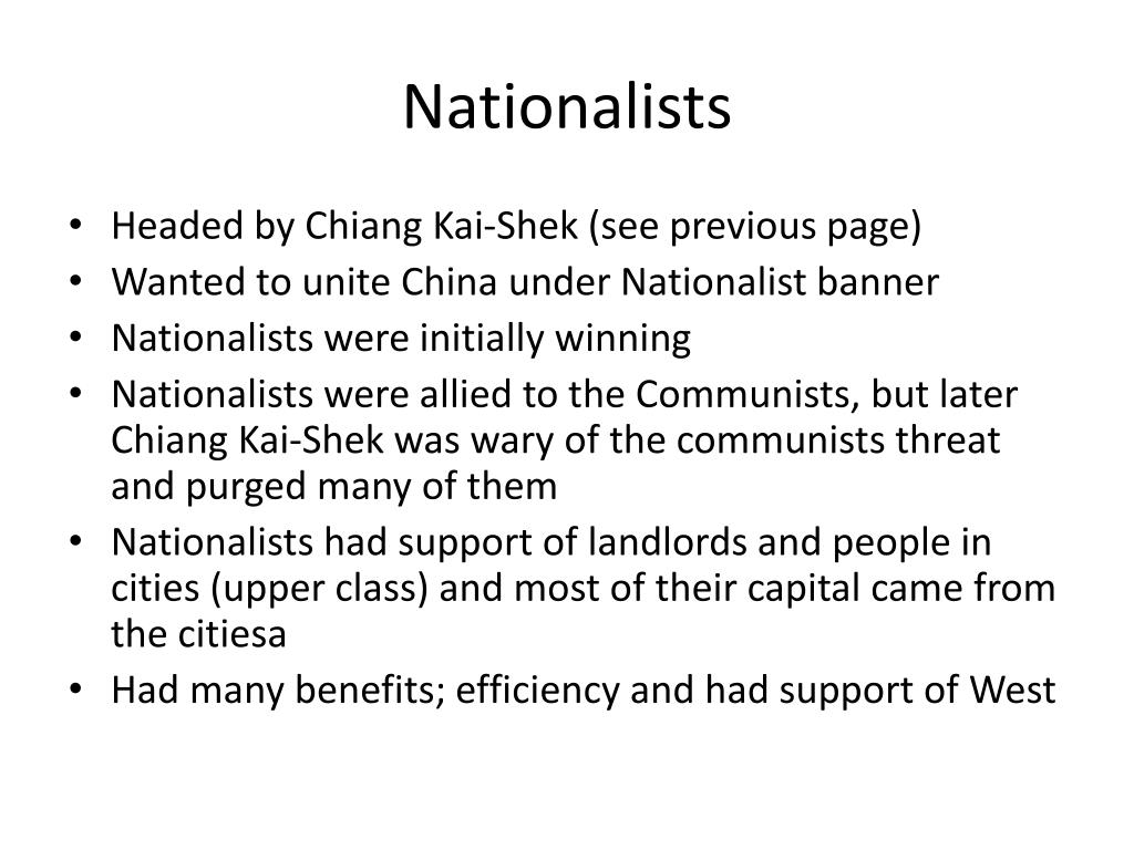 Nationalists