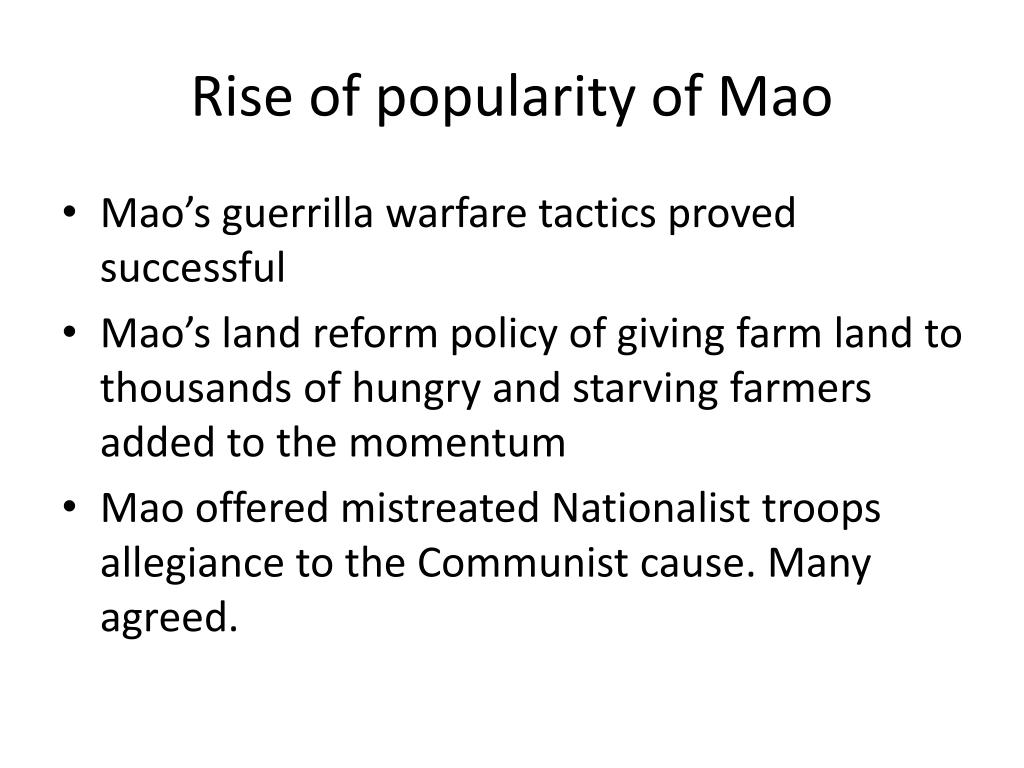 Rise of popularity of Mao