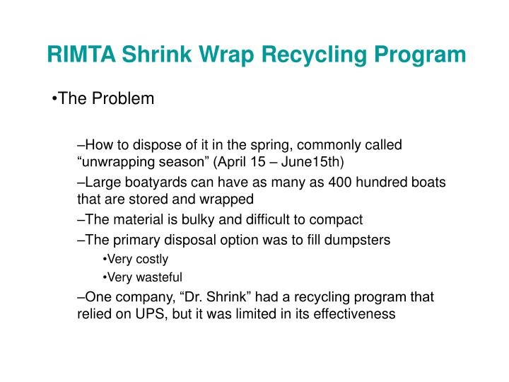 Rimta shrink wrap recycling program3
