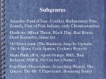 subgenres
