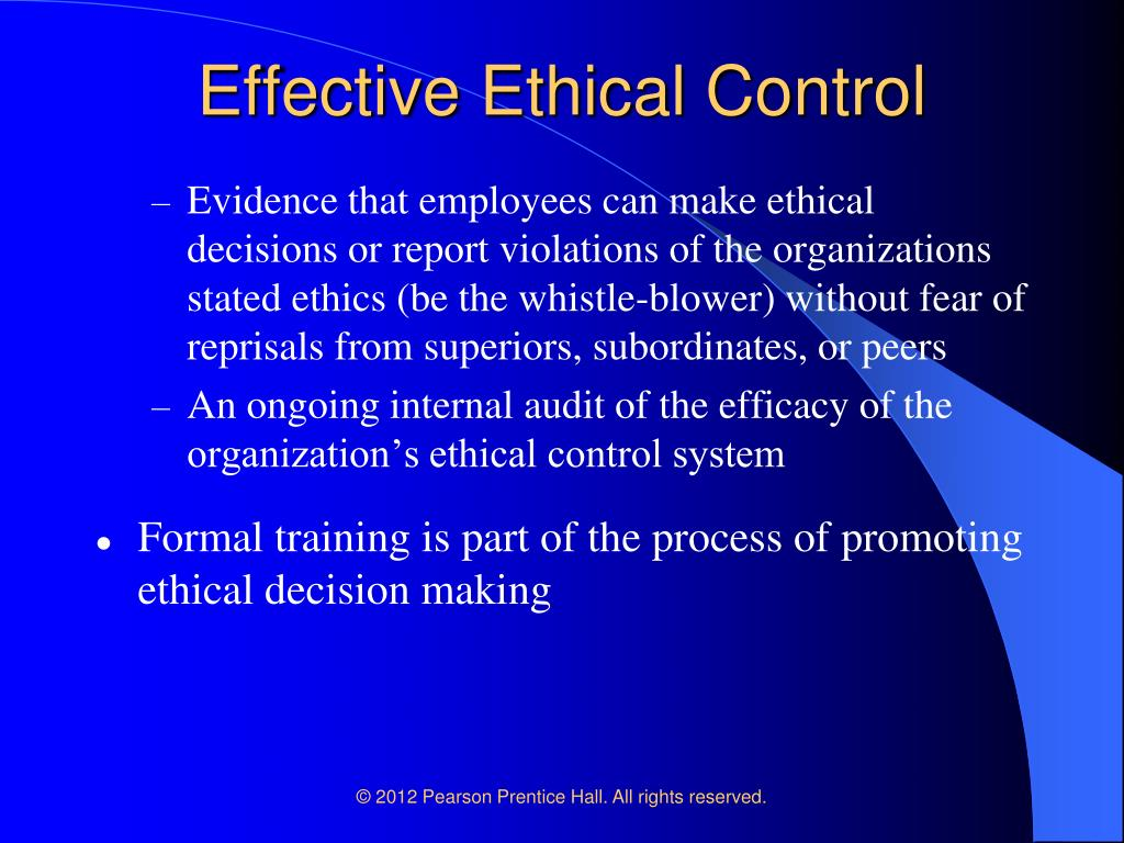 managing and controlling ethics progra Effective corporate compliance programs and effective compliance and ethics program from the united states for control owners to be expected to.