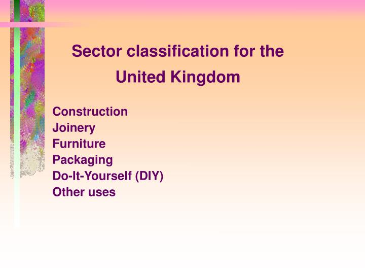 Sector classification for the united kingdom