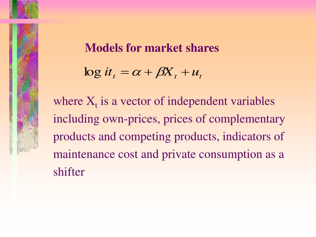Models for market shares
