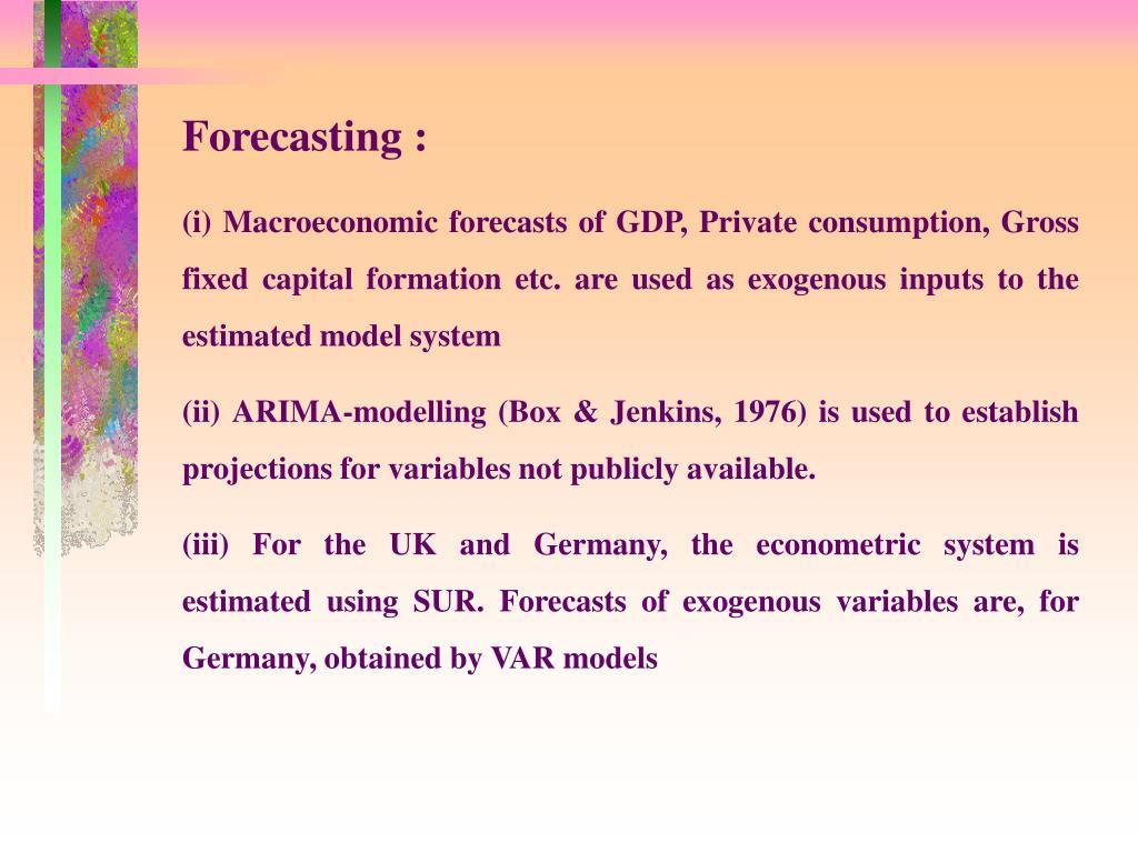 Forecasting :