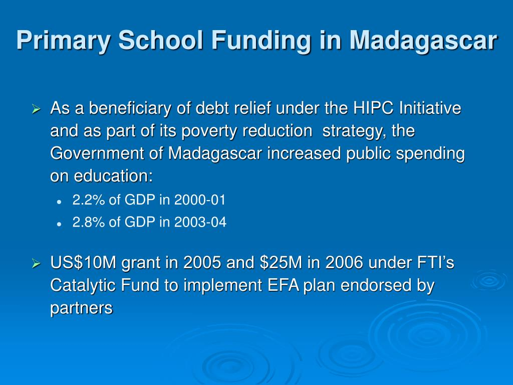 Primary School Funding in Madagascar