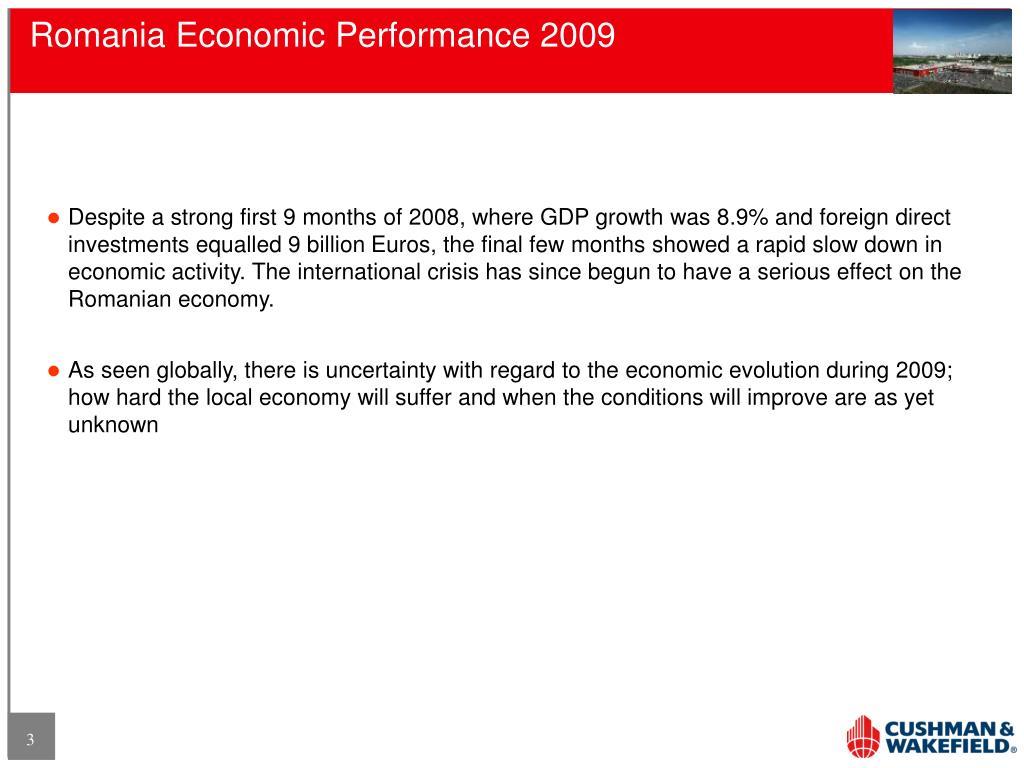 Romania Economic Performance 2009