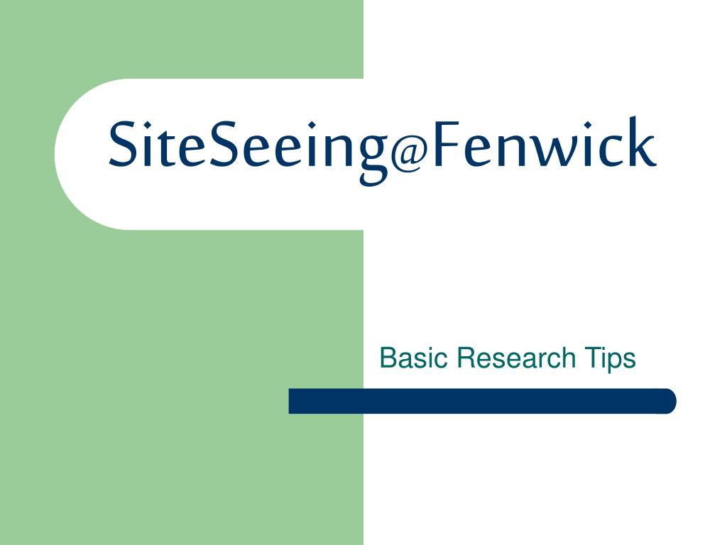 SiteSeeing