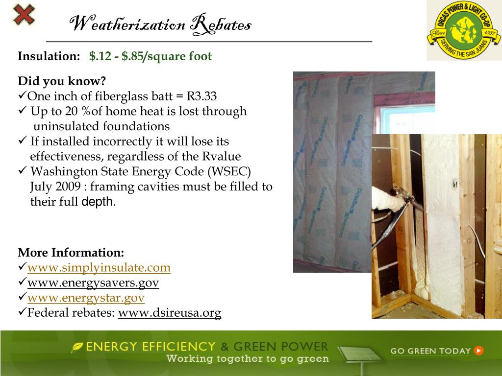 Weatherization Rebates