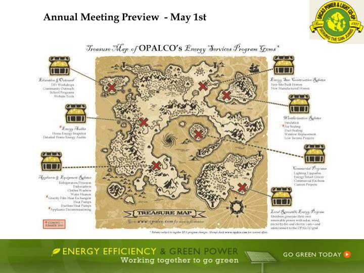 Annual Meeting Preview  - May 1st