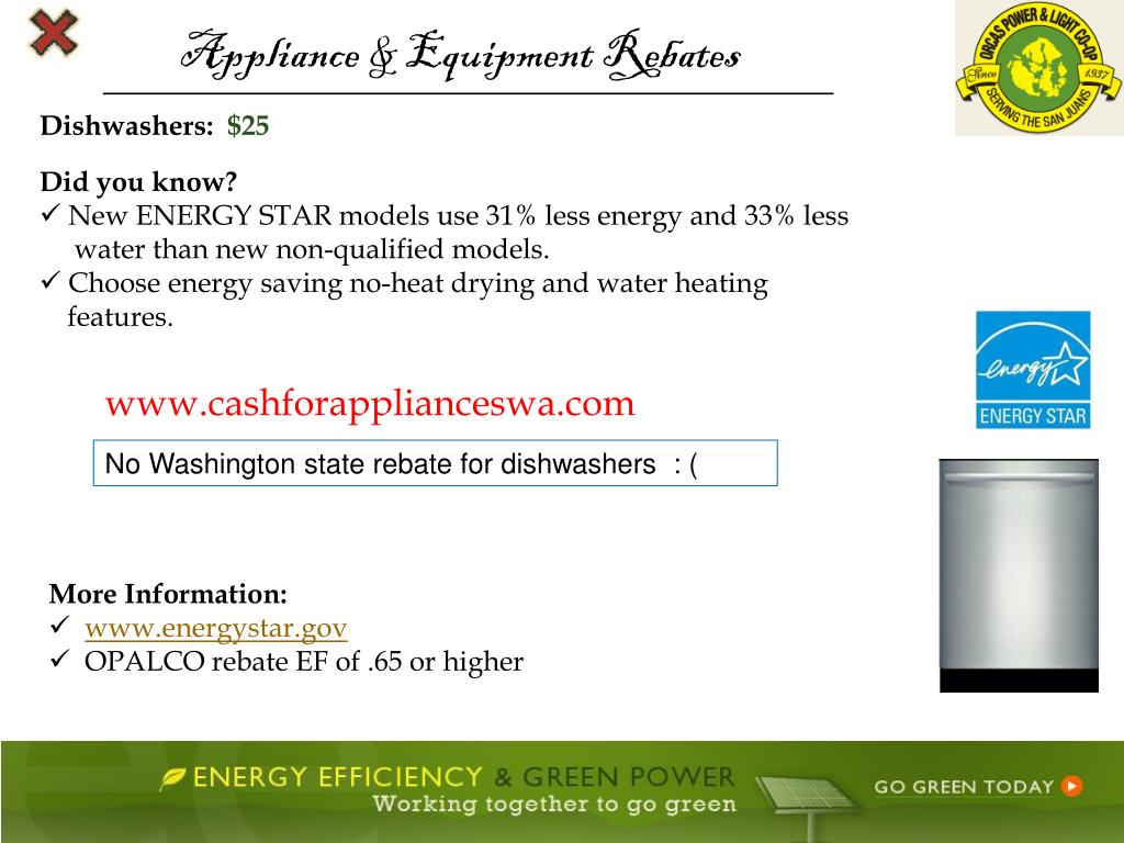 Appliance & Equipment Rebates