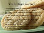 step by step instructions