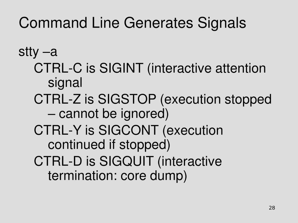 Command Line Generates Signals