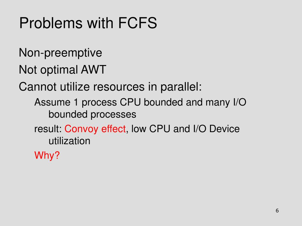 Problems with FCFS