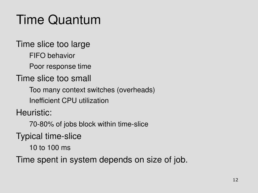 Time Quantum